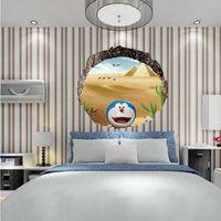 Wholesale A Doraemon Doraemon D waterproof floor with three dimensional wall stickers children room bedroom living room wall stickers stickers