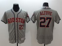 Wholesale Houston Astros baseball jersey flex base jerseys CORREA SPRINGER ALTUVE KEUCHEL ryan biggio correa blank shirt top shirts tops