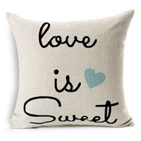 Wholesale Letter Printed Scatter Cushion Covers Pillowcase Square Cojin Pillow Cottom Home Decor Car Seats x Inches Soft Pillow Cover Free Shipp