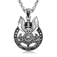 best killing - Popular American Angel Killing Sword Stainless Steel Pendant Necklaces For Men Hip Hop Jewelry Best Sellers Relievo Scorpion Pendants