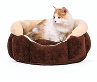Wholesale Brown pet nest cat bed cat supplies toy