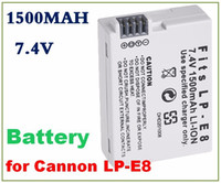 Wholesale Digital camera Battery mAh For canon LP E8 EOS D D D D LPE8 Rechargeable batteries charger battery
