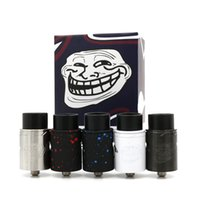 Cheap The Troll V2 RDA Clone Rebuildable Dripping Atomizers 5 Colors Two post deck PEEK insulator fit 510 Electronic Cigarette Free Shipping