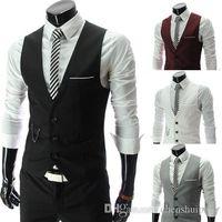 Wholesale Men Vests Outerwear Casual Suits Slim Fit Stylish Short Coats Suit Blazer Jackets Coats Korean wedding V neck