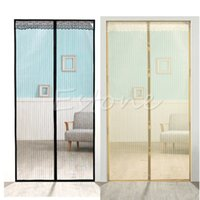 Wholesale Magic Curtain Door Mesh Magnetic Hands Free Fly Mosquito Bug Insect Screen Hot