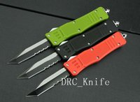 Wholesale MICROTECH troodon knife Combat Troodon single edged half serrated knives C steel Pocket knife camping DRC knife EDC tools