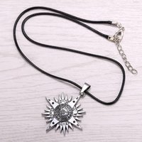 allen alloys - HSIC Hot Anime D Gray man Silver Metal Necklace Allen Logo Pendant Cosplay Accessories Jewelry Christmas Gifts