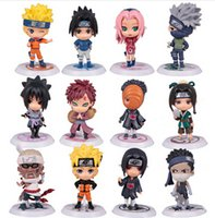 Wholesale 12pcs Full Set Q Edition Naruto Anime Action Figures Collection PVC