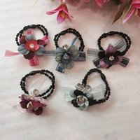 Wholesale Hair Tied Rope Crystal Hair Rope Hair Head dress Headdress Flower Rubber Band Rubber Band Holster