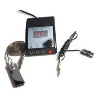 Dual Machine LCD Digital tatuaje fuente de alimentación Set Clip Cable Pedal 99-1026-06