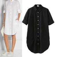 acne dress - Acne women oversize design medium and long shirt dress cotton one piece dress