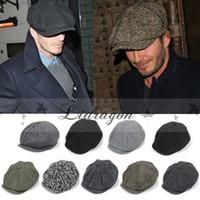 beckham hat - Fashion Octagonal Cap Newsboy Beret Hat Autumn And Winter Hats For Men s International Superstar Jason Statham Beckham Male Models M253