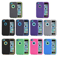 Wholesale High Quality Hybrid Case For iPhone C with Protector Film Defender Phone Case Multicolor in stock