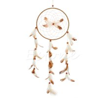 Wholesale Fashion Handmade Dream Catcher Feather Leather Wall Hanging Decor Ornament Gift