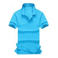 purple polo shirts - Raphel Lauren Popular Brand Men Solid Male Polo Shirt Casual Short Sleeve Shirts T Shirts Solid Camisetas Tenis Camisa Masculina