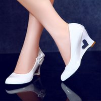Wholesale Low price new fashion women pumps wedges bowtie high heels shoes woman platform wedding shoes drop shipping