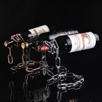 balancing wine holder - New Arrival Hot Iron Wine Rack Suspended Gravity Balance Continental Bar Decoration Fashion Wine Holders Metal Crafts Gifts
