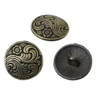 decorative buttons - high end luxury traditional Antique Bronze sculpture decorative pattern Round button mm metal button Clothing accessories