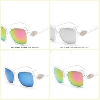 arrival flash designer - New Arrival Full Frame Female Sunglasses Fashion UV400 Summer Flash Mirror Sunglass Brand Designer DHL mn1