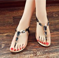 Wholesale In the summer of the new costly gem female sandals clip toe sandals wedges metal for women s shoes