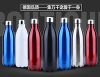 beer direct - New Design Double Layer Vacuum Stainless Steel ml Coke Bottle Beer Mug Double layers Creative Cup for Healthy Drinking Water