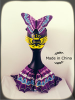 Wholesale Halloween Gift Plush purple Butterfly Cape with crown