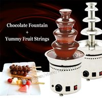 Wholesale Chocolate fountain machine levels stainless steel chocolate fountain dispenser for party and casino