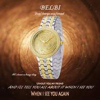 Relojes de pulsera de diamante de las mujeres de BELBI Relojes de pulsera de lujo de la manera de AAA en partido Alta calidad Reloj de marca de fábrica de China el mejor regalo al amor