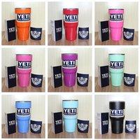 Wholesale New oz YETI Rambler Tumbler Cup Purple Pink Blue Light Blue Orange Light Green Stainless Steel Tumbler Mug
