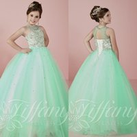 beautiful dresses for teens - 2016 Beautiful Girls Pageant Dresses for Teens Princess Ball Gowns Crystals Beaded Lace Up Back Girls Pageant Prom Gowns