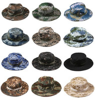 Wholesale New Cotton bucket hat for men Fashion Military Camouflage Camo Fisherman Hats With Wide Brim Sun Fishing Bucket Hat Camping Hunting Hat