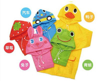 Wholesale Baby Girls New Lovely Cartoon animal style children raincoat poncho Children s Poncho