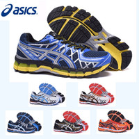 Wholesale 2017 Asics GEL Kayano Running Shoes Comfortable For Men High Training Sneakers Sports Shoes Size
