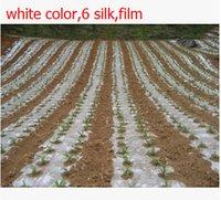 Cheap Wholesale-Free shipping,20 square 2x10M 6 silk,white color,Garden PE film flower greenhouse plastic mulch.plastico para invernadero