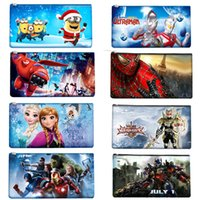 Wholesale 2016 new cartoon school pen bags for boys girls styles children s lovely gift Baymax Frozen Spider Man Minions Marvel s The Avengers bags