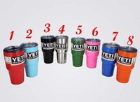 Wholesale 2016 Hot Sale YETI Rambler Stainless Steel oz Yeti Cups Bilayer orange purple Color Insulation Mug Keep Drink Cold Mugs