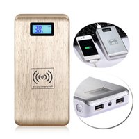 battery charging pad - Qi Wireless mAH Power Bank Charger with LCD Display and Dual USB Port Charging Pad External Battery For Samsung S6 Nokia LG