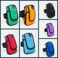 Wholesale 100PCS Waterproof Mobile Phone Arm Band Bag Outdoor Sports Running Wrist Wallet Case Arm Fitness Package LJJL112