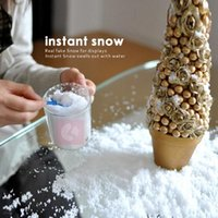 fake snow - Magic Prop DIY Instant Artificial Snow Powder Simulation Fake Snow Christmas party Decorations supply