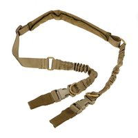Wholesale 2016 New Outdoor task rope Tactical American Sling Adjustable Bungee Rifle Gun Sling Strap System Tactical One Point Hunting Gun Sling