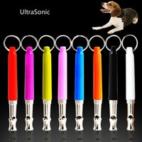 Wholesale 2016 New Home Garden Pet Dog Training Obedience Whistle UltraSonic Supersonic Sound Pitch Black Quiet Discipline Supplies