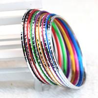 aluminum jobs - Brand New Multi Colors Beautiful Fashion Women s Aluminum Mixed Styles Jewelry Bangles Bracelets job