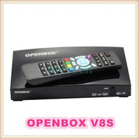 Wholesale AAA quality openbox v8s digital satellite receive dual core cpu sopport WEB TV Biss key Youtube Youporn