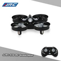 4ch - Original JJRC H36 RC Drones G CH Axis Gyro D Flip Headless Mode One Key Return Anti Crush UFO RC Quadcopter RTF Drone RM6707