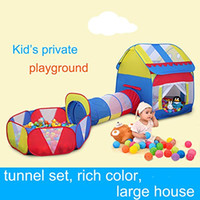 Wholesale 2016 Kids Playhouse Tunnel Pool Adventure Play Tent Indoor Outdoor Pieces Set Ball Is Not Include E604E