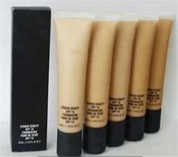 bar code box - makeup brand professional makeup ml STUDIO Foundation SCULPT SPF liquid foundation FOND DE TEINT SPF15 with bar code on box and tube