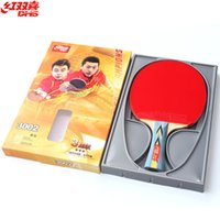 bat grip - DHS Star Horizontal Grip and Straight Grip Table Tennis Racket finished table tennis bats long handle racket Short handle racket