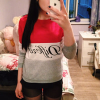Wholesale Autumn and winter women fleeve hoodies printed letters Different women s casual sweatshirt hoody sudaderas