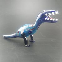 best dinosaur - Best Selling Glass Pipes Unique Design Blue Color Dinosaur Glass Smoking Pipe For tabacco thick glass Water Pipes Length cm quot