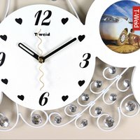 arch photos - Wooden arch hammock bedroom wall clock quieten photo frame wall clock decoration clock fashion personalized watches and clocks